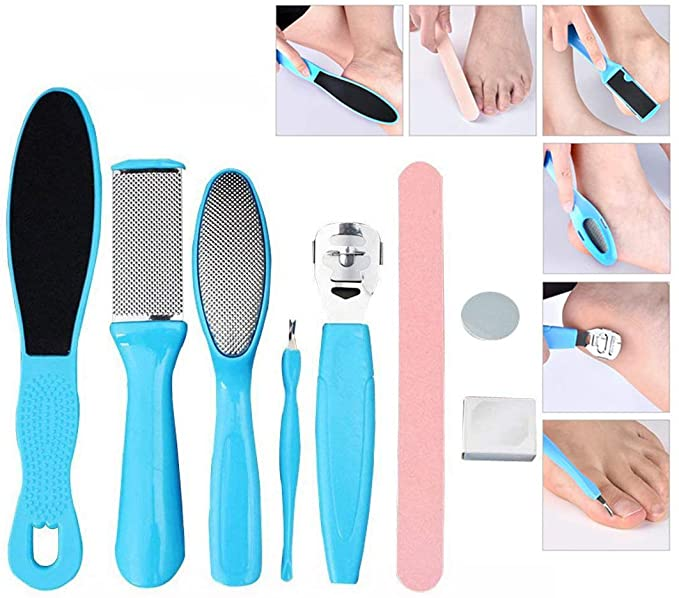 8 in 1 Pedicure Kit Foot File Callus Remover, Stainless Steel Dead Skin Remover for Household Foot Care