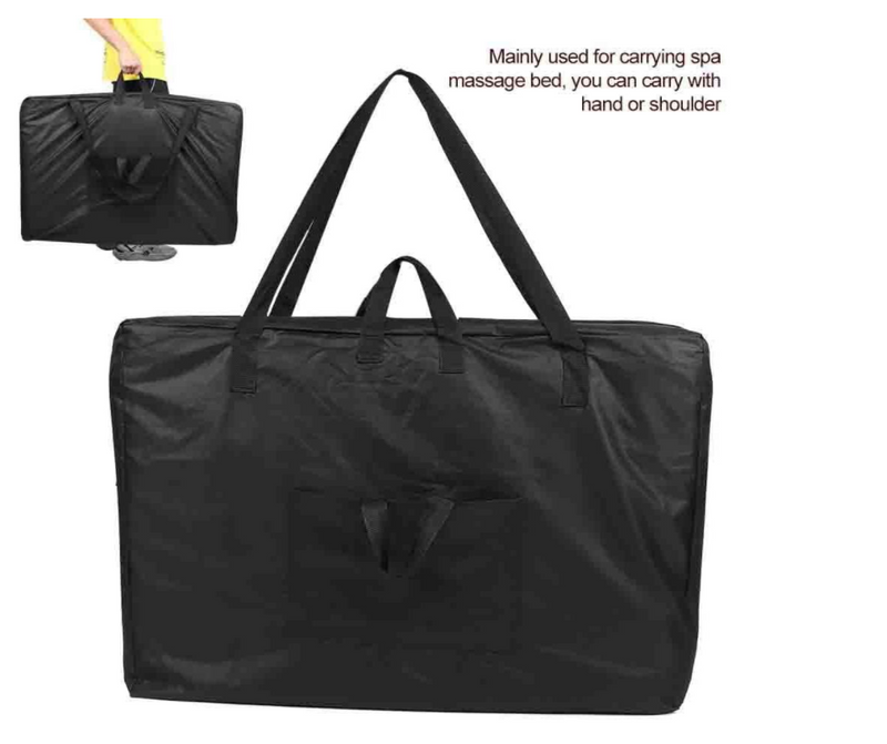 Black Universal Portable Massage Bed Carrying Bag Canvas Shoulder Bag for Spa Tables Accessories