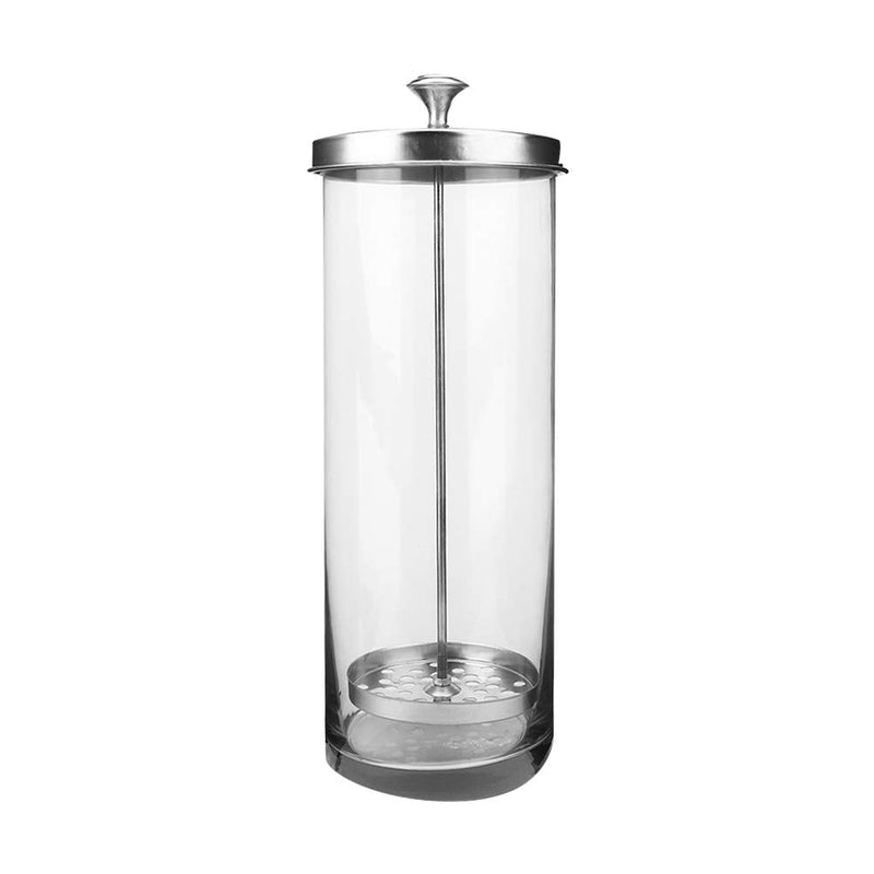 Sterilizer Jar - Glass Manicure Disinfection Cup With Lid Sterilizer Jar