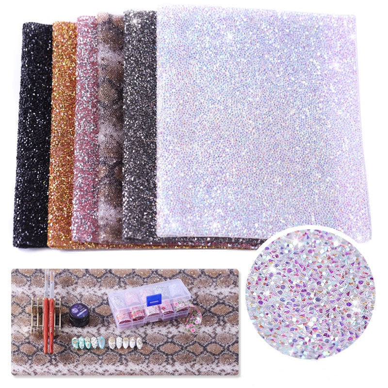 Nail Art Hand Pad Shiny Manicure Table Mat Washable Folded Nail Art Armrest Cushion Pad