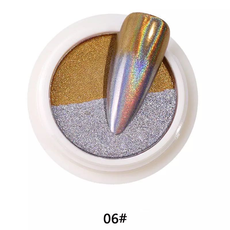 【BUY 1 GET 1 FREE!】Dual Colors Sides Nail Manicure Chrome Powder Pigment Mirror Effect