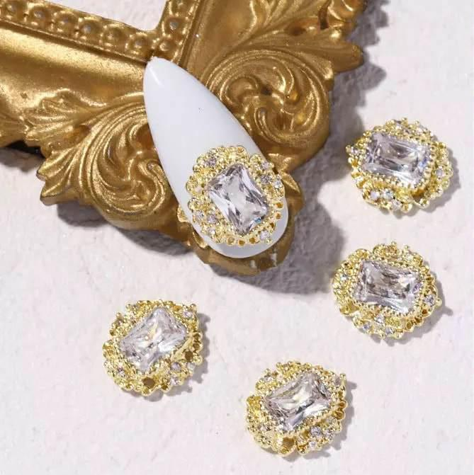 【BUY 2 GET 1 FREE!】3D Crystal Stone Studded With Diamond Nail Charms Decoration Decals (2pcs)