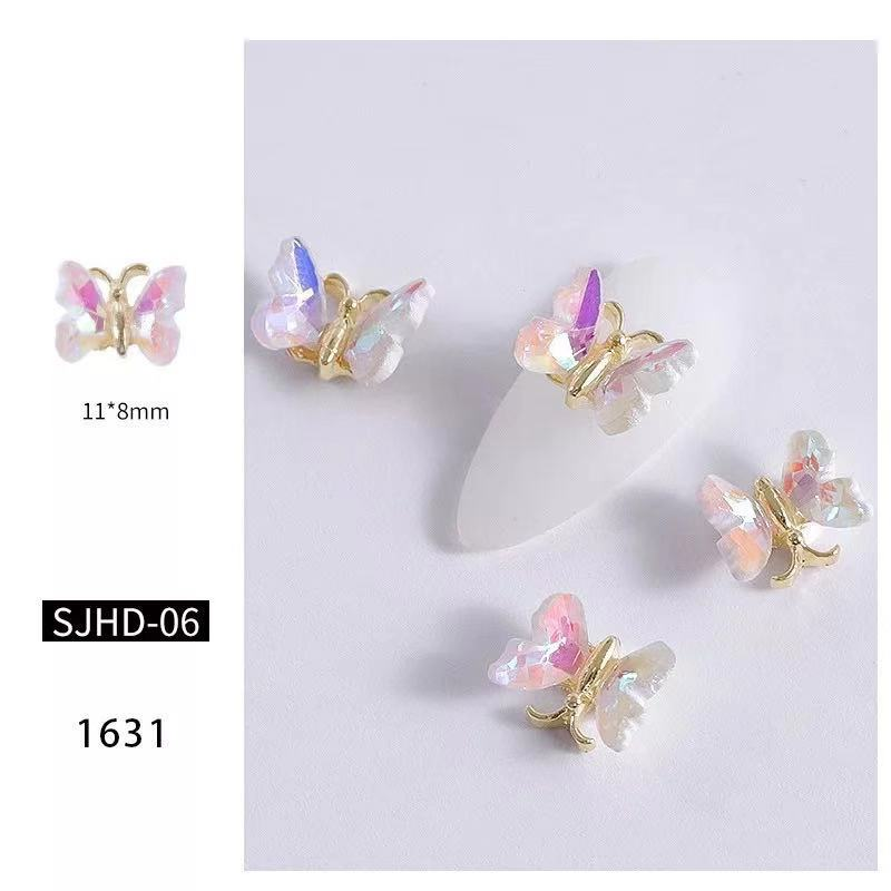 【BUY 2 GET 1 FREE!】3D Fancy Multi-Colored Butterfly Nail Charms Accessories Decals (2pcs)
