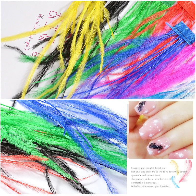 【BUY 1 GET 1 FREE】Variety Feather DIY Nail Art Decoration