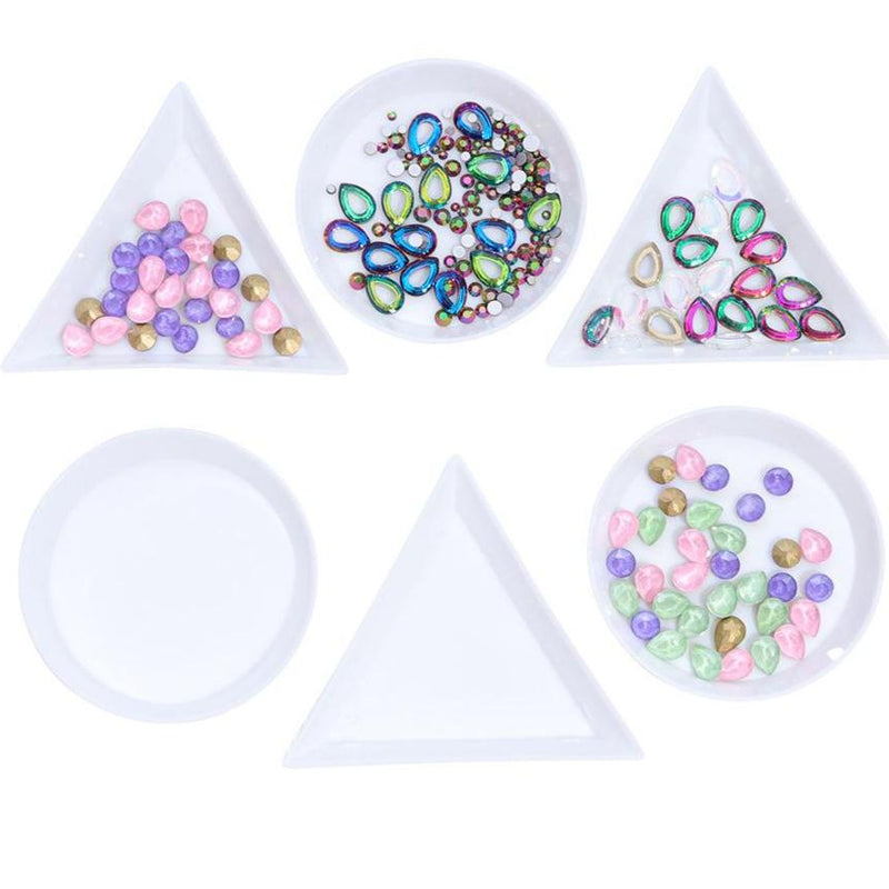 【BUY 2 GET 1 FREE 】Nail Art Stackable Jewelry Little Tray (Round/Triangle)