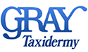 gray taxidermy logo