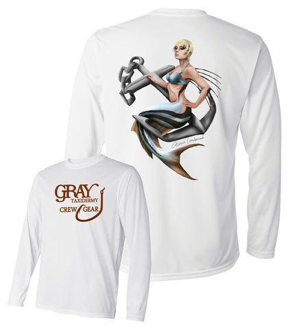 "Dri-Fit ""Roosterfish/Mermaid"" Performance Long-Sleeve T-Shirt"