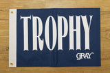 Gray Taxidermy blue trophy flag