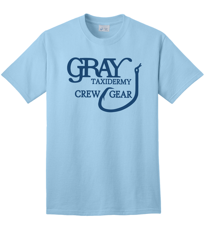 "Gray Taxidermy Crewgear ""Stuff It"" T-Shirt, Blue"