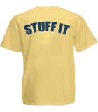 "Gray Taxidermy Crewgear ""Stuff It"" T-Shirt, Yellow"