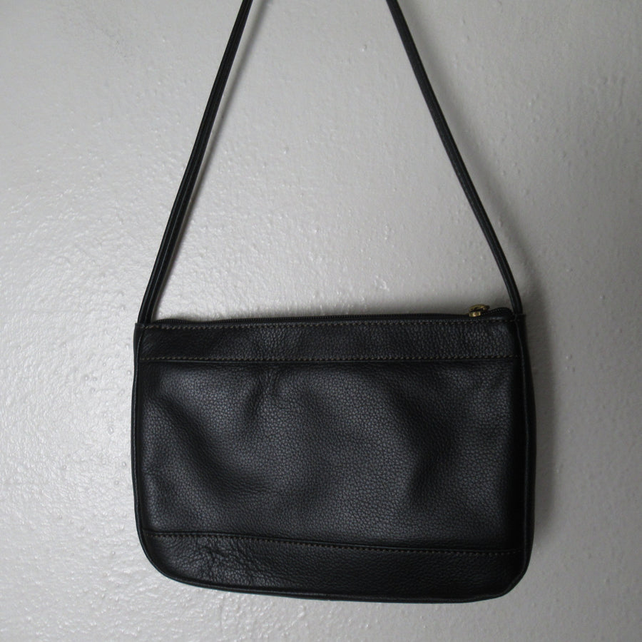 Fossil Black Leather Cross body Shoulder bag
