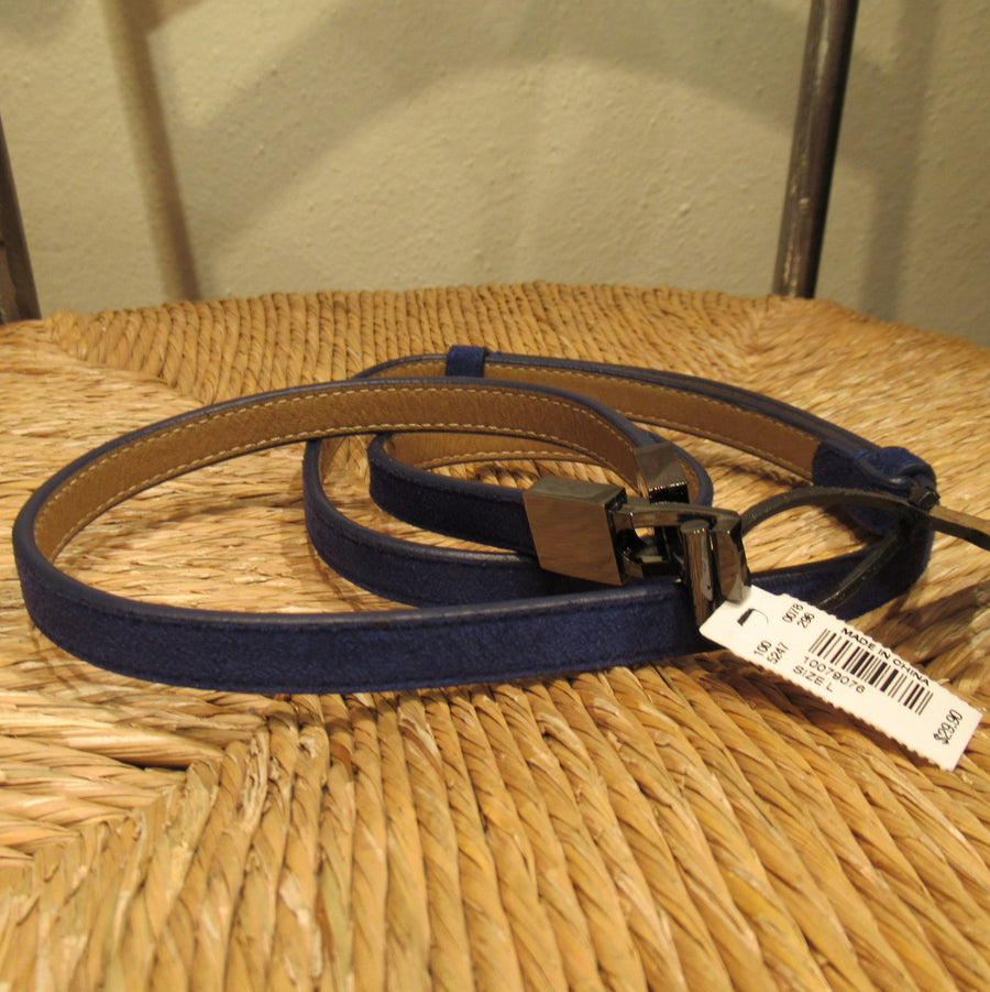 Limited Blue Man-made Faux Suede Belt