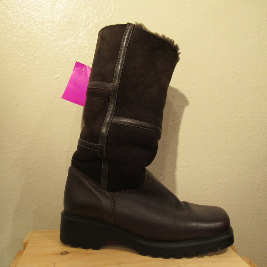 La Canadienne Dk brown Shearling Calf boots