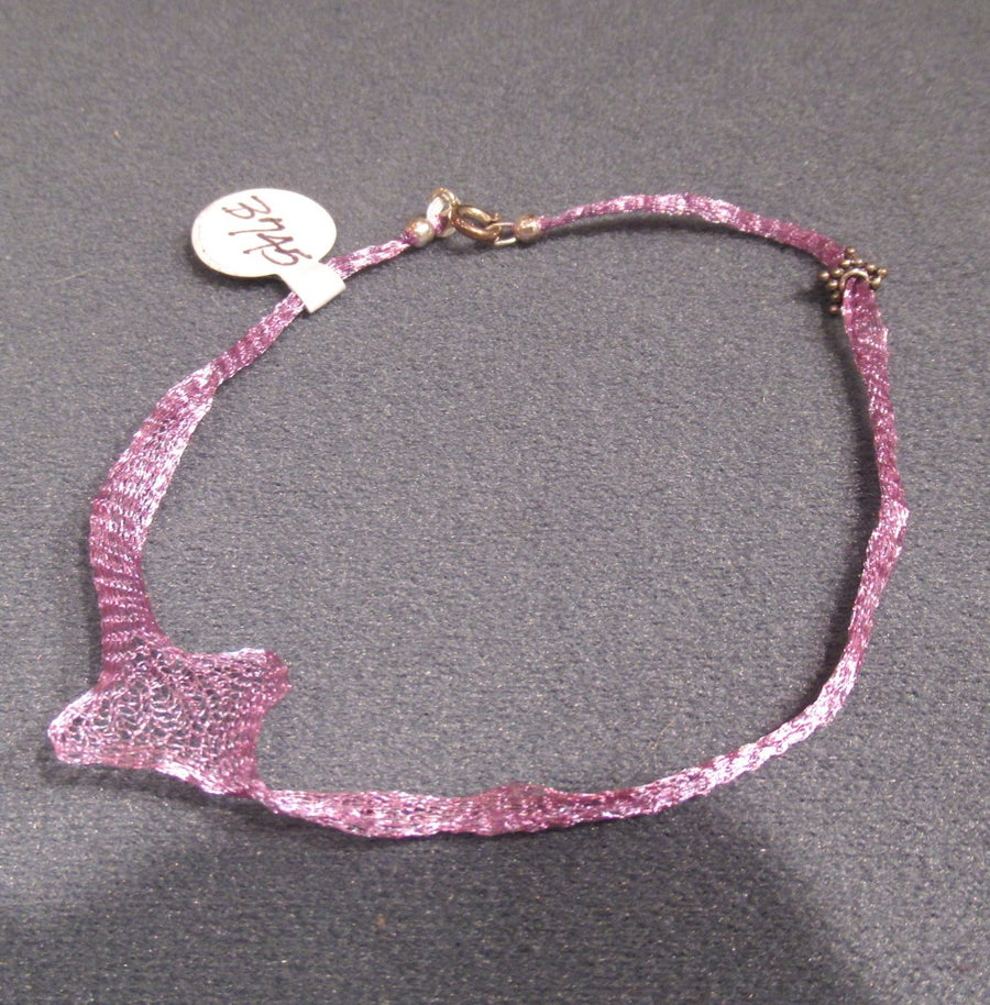 Sterling silver Mesh Lilac Chain bracelet
