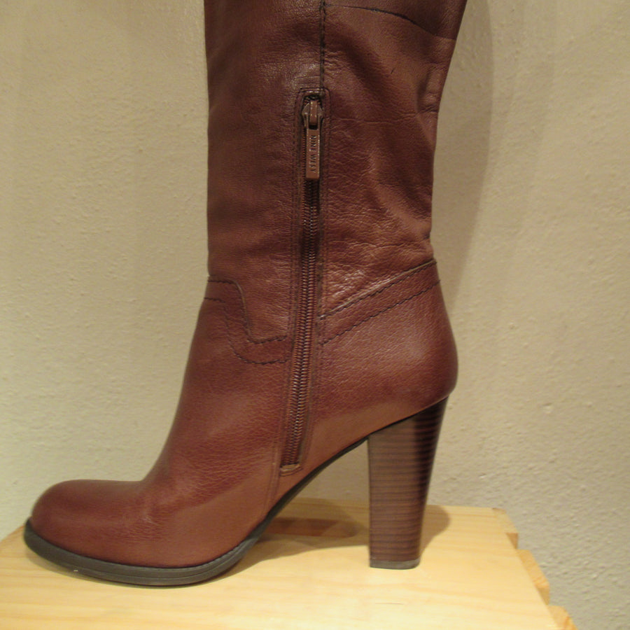 Nine West Brown Leather High Knee boots