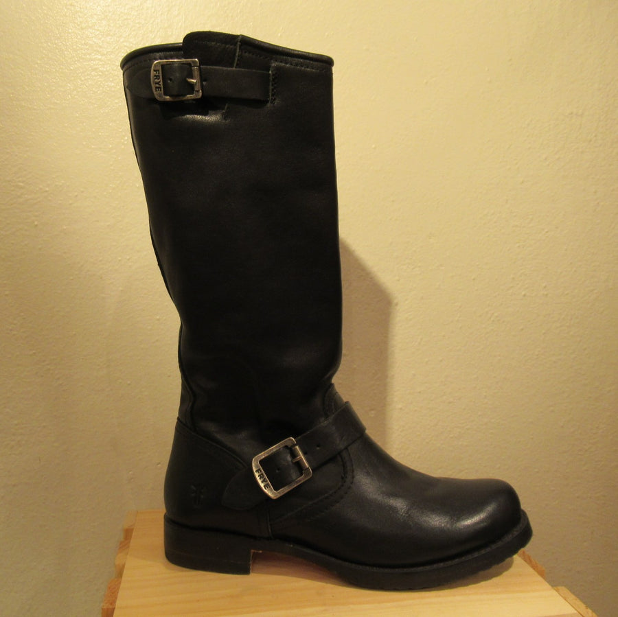 Frye Black Leather Knee boots