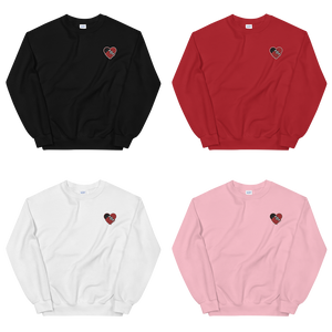 "Strictly Skateboarding Sweatshirts: Embroidered ""OG"" + ""DRIP"" Designs Soft & Comfortable 100% Cotton Available in Black, Red, Pink & White Colors!"