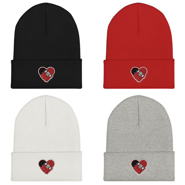 "Strictly Skateboarding Beanies: Embroidered ""OG"" + ""DRIP"" Designs Soft & Comfortable! (One Size Fits All) Available in Black, Red, Pink & White Colors!"