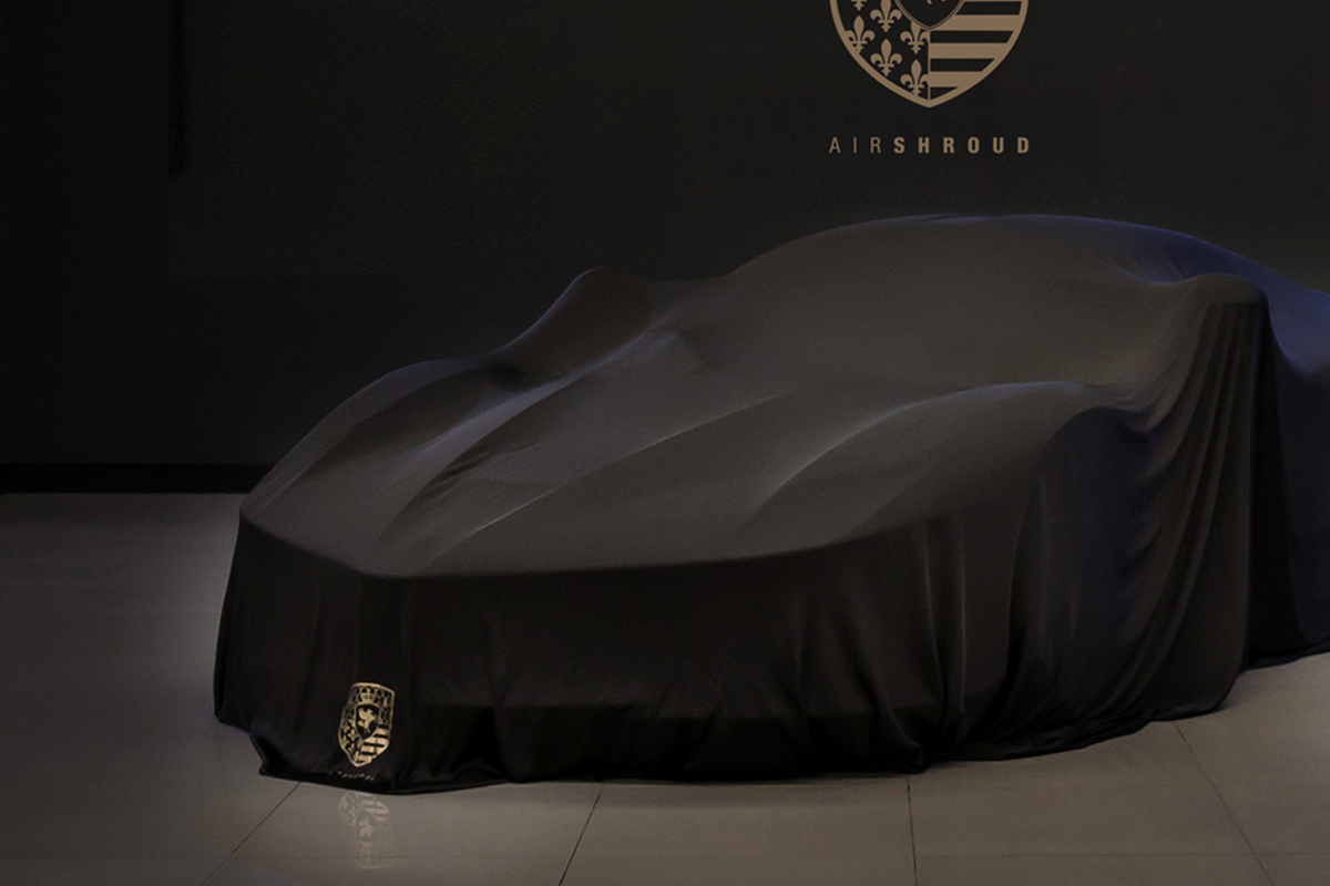 AirShroud Reveal Indoor car cover on Ferrari Laferrari fully covered