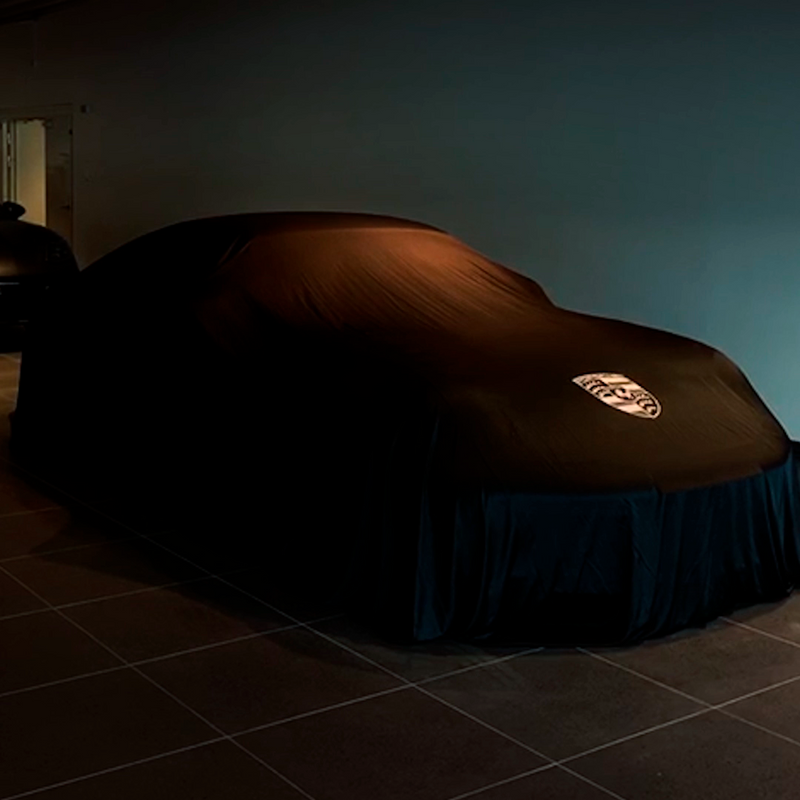AirShroud Remote Control Reveal - Small indoor car cover with custom logo - AirShroud