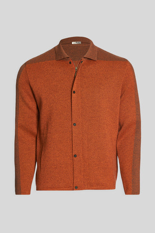 Polo Neck Pockets Tile Wool Jacket