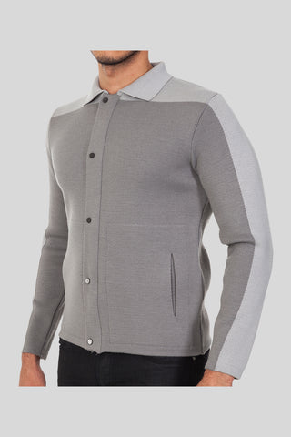 Polo Neck Open Veto Wool Jacket With Pockets