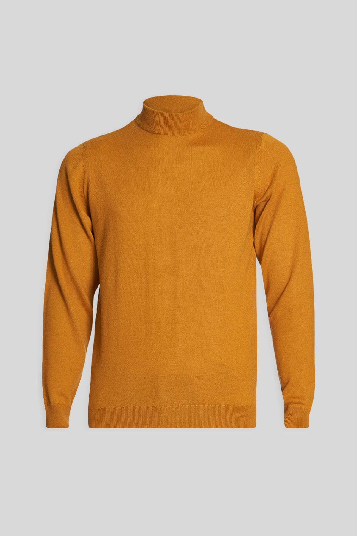 Mock Neck Wool Mustard Sweater