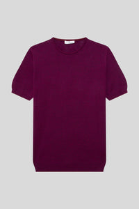 Crew Neck Cotton Melange Orchid T-Shirt
