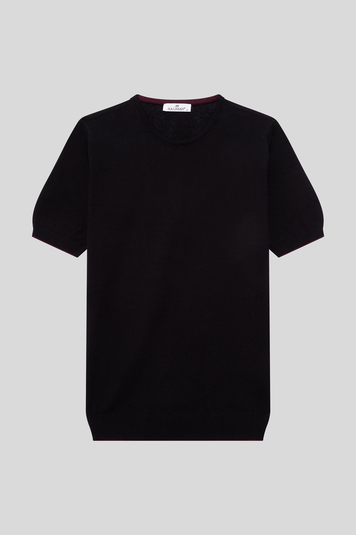 Crew Neck Cotton Black T-Shirt