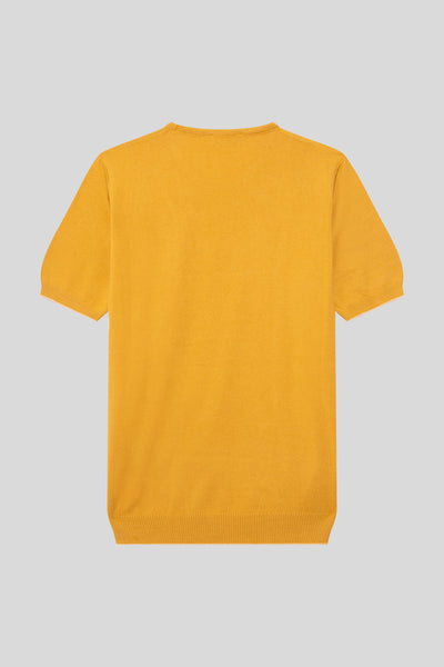 Crew Neck Cotton Light Mustard T-Shirt