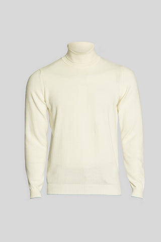 Turtle Neck Cotton Optical Sweater