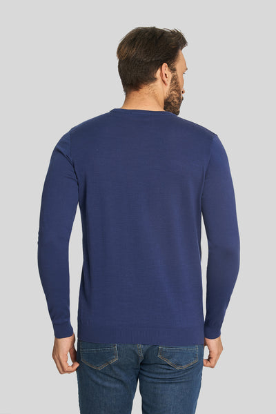 Royal Crew Neck Cotton Sweater