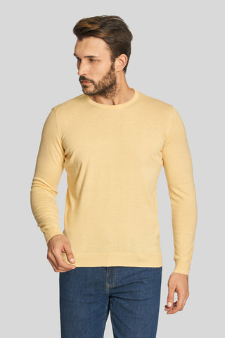 Melon Crew Neck Cotton Sweater