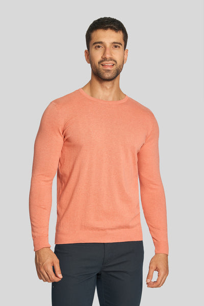 Pomegranate Crew Neck Cotton Sweater