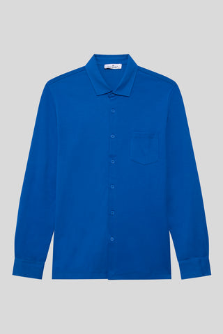 Buttoned Italian Neck Royal Shirt