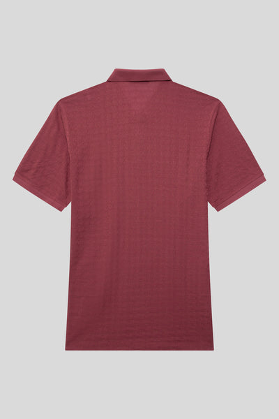 Oversized Buttoned Polo Neck Cotton Tile T-Shirt