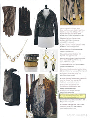 Urban Posh Earrings featured in Austin Lifestyle Magazine