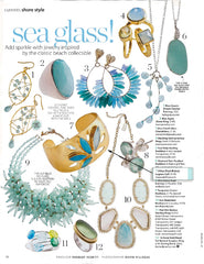 Urban Posh Jewelry Gold Cuff in Coastal Living Magazine