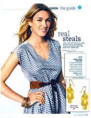 Urban Posh Gold Fleur Earrings in Real Simple Magazine