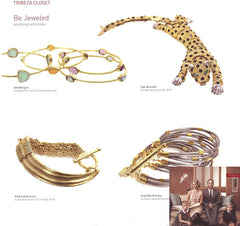 Urban Posh Gold Stacking Bangles in Tribeza Magazine