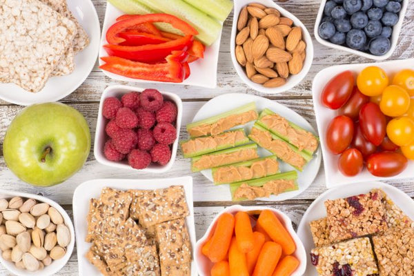 An assortment of healthy snacks