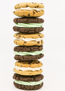 Mint Fudge & Vanilla Chip Cookie Sandwich Box 6 pack