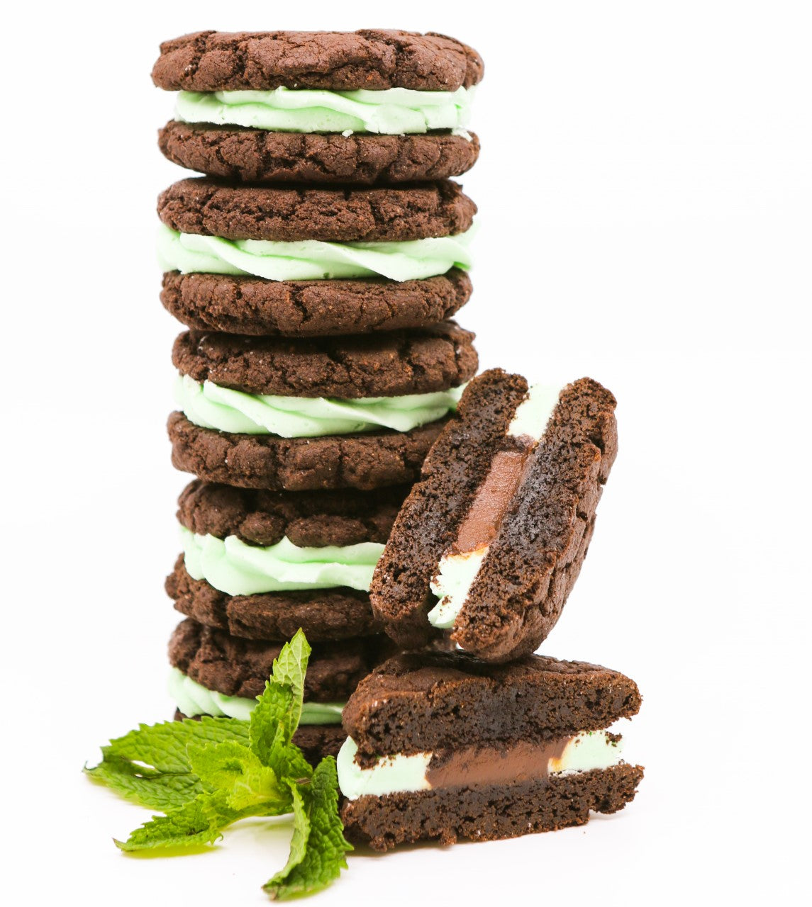Mint Fudge Cookie Sandwich 6 pack
