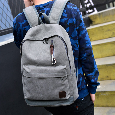 Men's Minimal Canvas Backpack