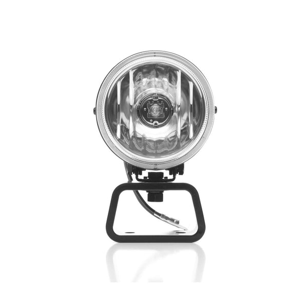 KC HiLiTES Rally 400 4in. Round Halogen Light 55w Spread Beam (Pair Pack System) - Black