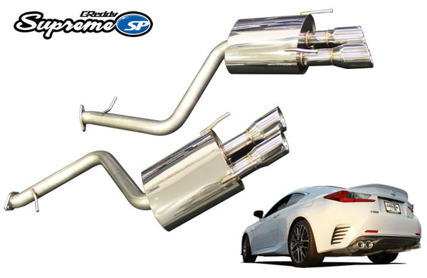 GREDDY SUPREME SP EXHAUST: LEXUS RC350 2015-17 (AXLE-BACK)