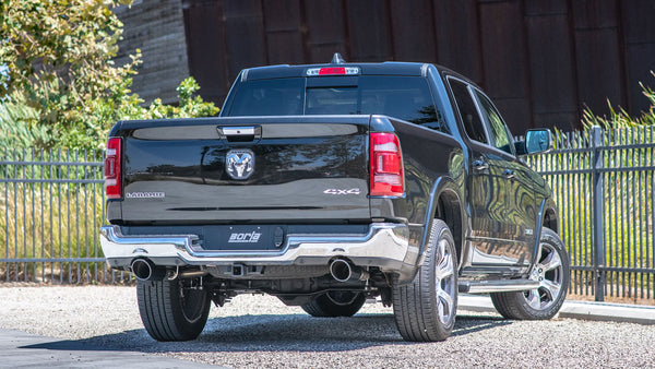 Borla 2019 RAM 1500 5.7L V8 AT 4DR Crew Cab Short Bed S-Type SS Catback Exhaust - Black Chrome Tip