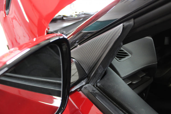 AMS Performance 2020+ Toyota GR Supra Anti-Wind Buffeting Kit - Gloss Carbon