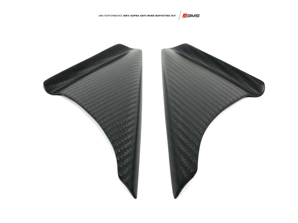 AMS Performance 2020+ Toyota GR Supra Anti-Wind Buffeting Kit - Matte Carbon