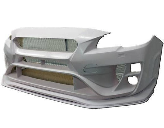 FRP FRONT BUMPER WITH LIP & SPLITTER VRS STYLE FOR 2015-2017 SUBARU WRX